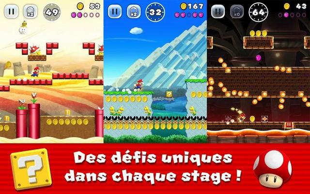 Super Mario Run - meilleur jeu de plateforme