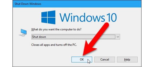 Arrêter Windows sans installer les mises à jour
