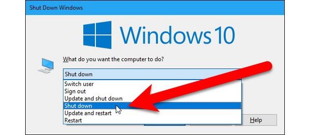 Arrêter un PC sans installer les mises à jour
