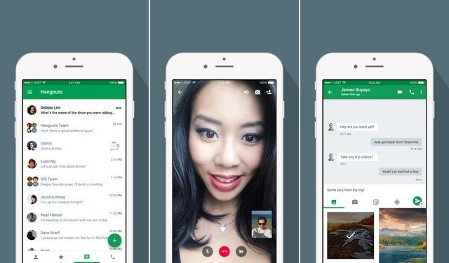 Hangouts - application de chat vidéo