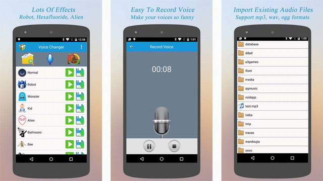 les meilleures applications android pour changer la voix info24android. Black Bedroom Furniture Sets. Home Design Ideas