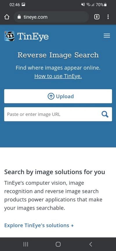 Comment faire une recherche d'image inversée avec TinEye