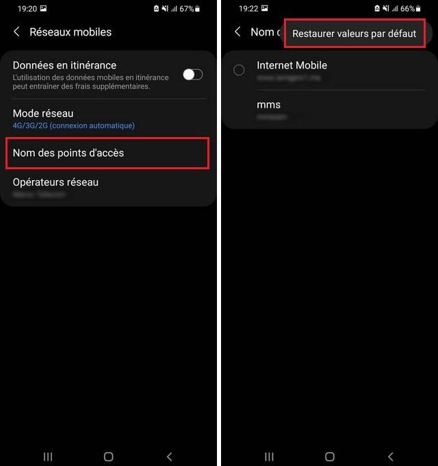 Comment réparer les données cellulaires