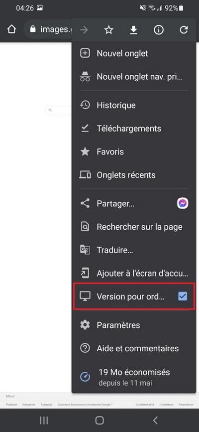 Google Chrome Version pour ordinateur