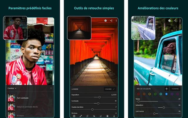 Adobe Lightroom - application de retouche photo