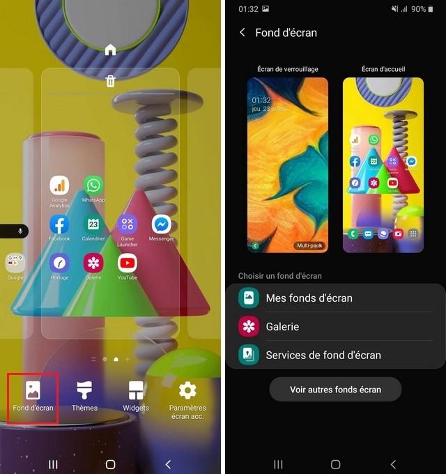 Changer le fond ecran sur votre Samsung Galaxy