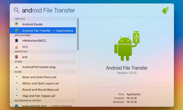Transfer files between Android and Mac using Android File Transfer