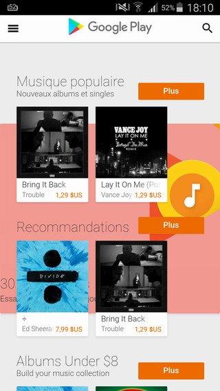 comment acheter de la musique sur google play info24android. Black Bedroom Furniture Sets. Home Design Ideas