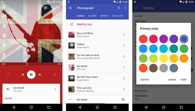 Phonograph - lecteurs de musique pour Android