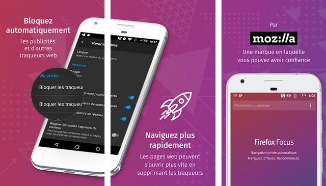 Firefox Focus - navigateurs Android