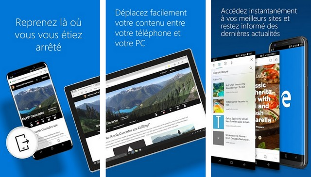 Microsoft Edge - navigateurs Android