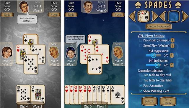 Spades Free - jeu de cartes