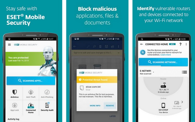 ESET Mobile Security et Antivirus
