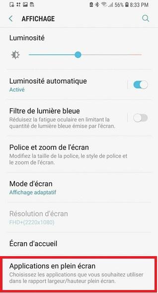 Galaxy S9 Comment Activer Vos Applications En Mode Plein Ecran