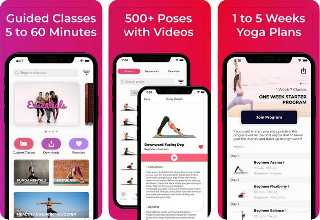 Lotus - meilleure application de yoga pour iPhone