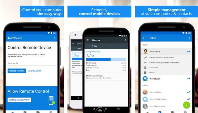 TeamViewer - application Android pour contrôler votre PC