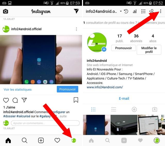 comment cacher son activité sur Instagram