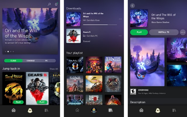 Application Xbox Game Pass