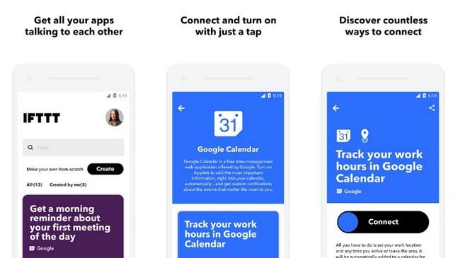 IFTTT - application pour personnaliser votre smartphone