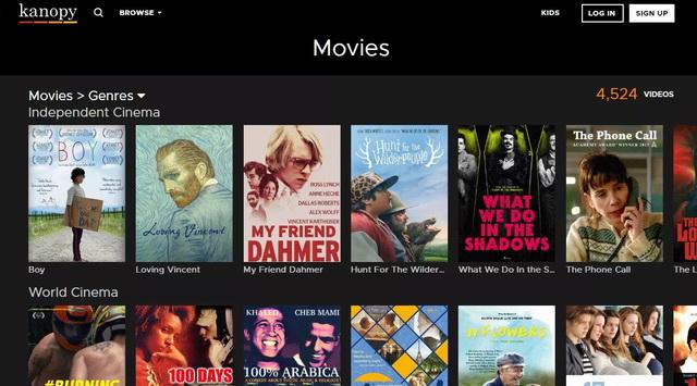 Kanopy - Site pour regarder des films gratuitement