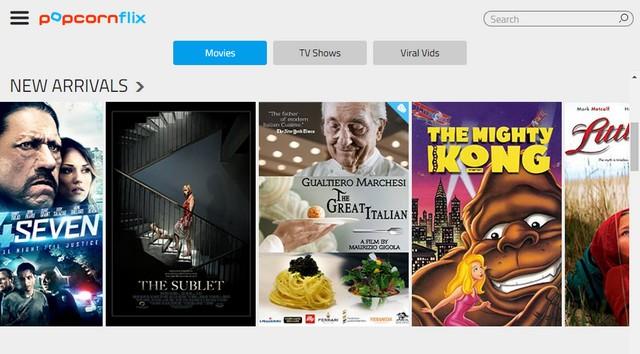 Popcornflix - Site pour regarder des films gratuitement