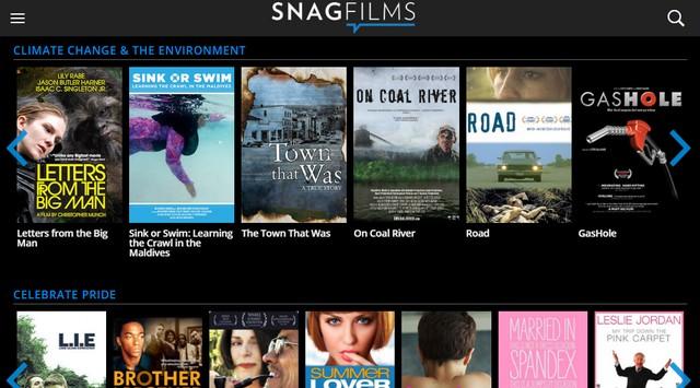 SnagFilms - Site pour regarder des films gratuitement