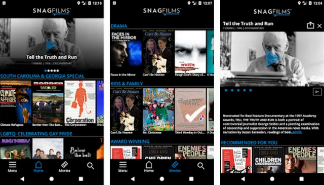 SnagFilms - application pour regarder des films
