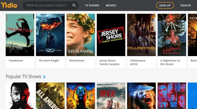 Yidio - Site pour regarder des films gratuitement