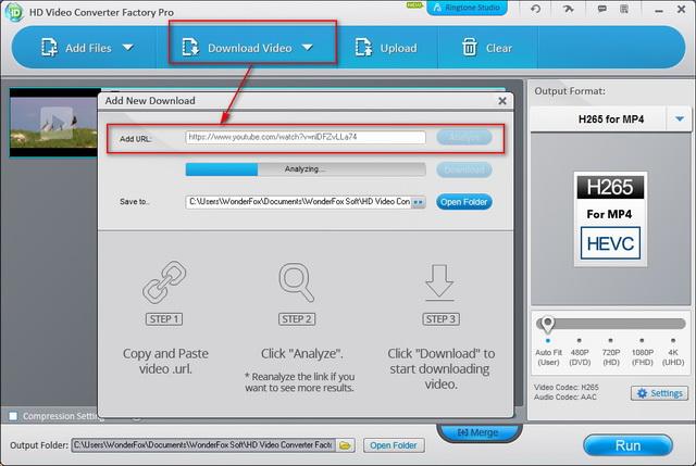 télécharger une vidéo YouTube avec HD Video Converter