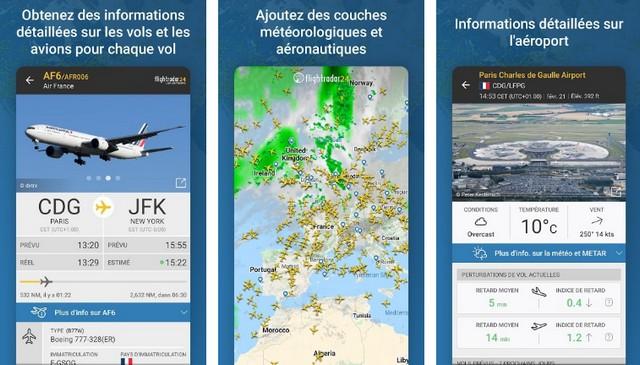 Flightradar24 - application pour suivre les avions