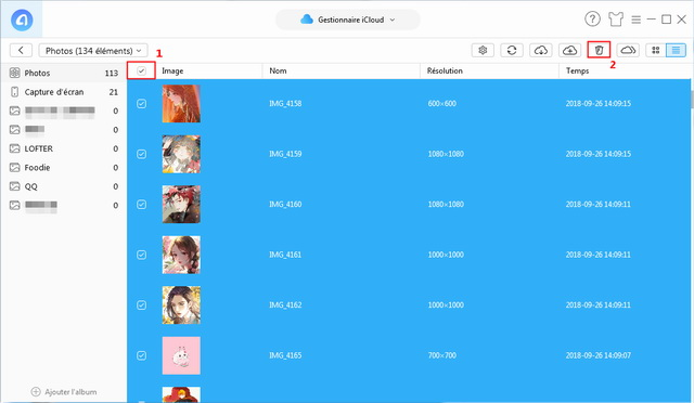 Vider les photos iCloud avec AnyTrans pour iOS