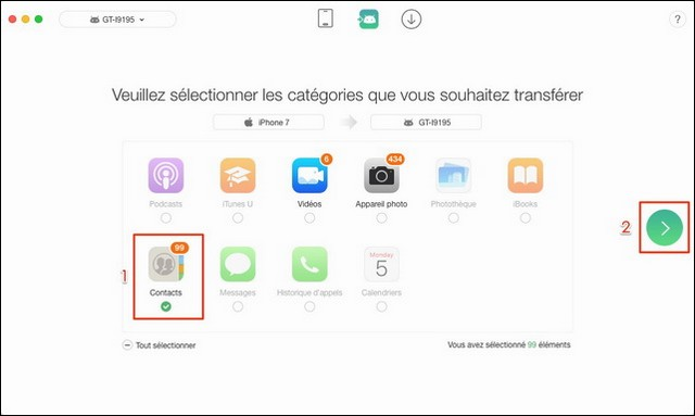 Comment transférer les contacts iPhone vers Samsung avec AnyTrans