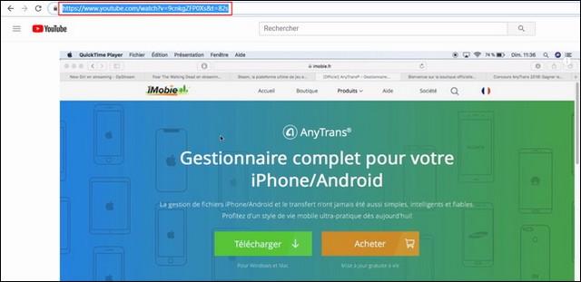 Télécharger les vidéos YouTube avec AnyTrans pour Android