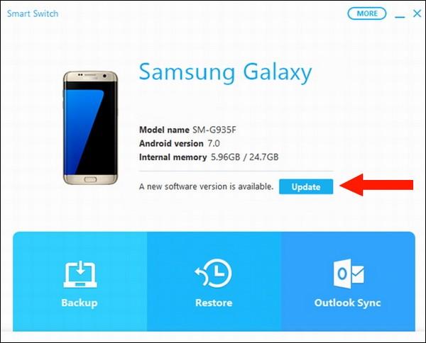 Utiliser Samsung Smart Switch pour mettre à jour votre téléphone