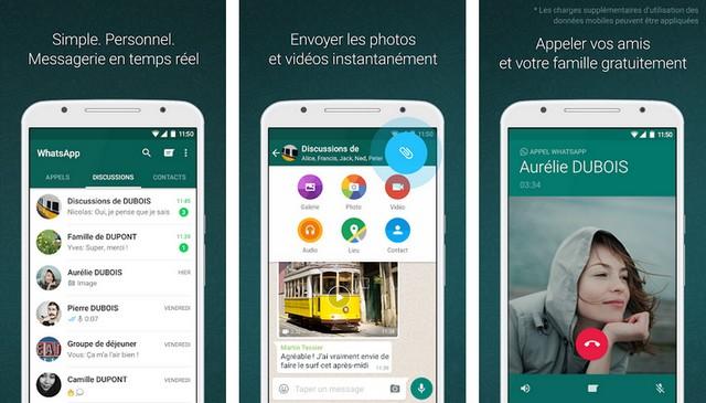 WhatsApp Messenger - meilleures applications gratuites