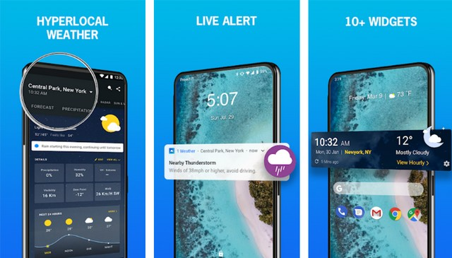 1Weather - meilleur widgets Android