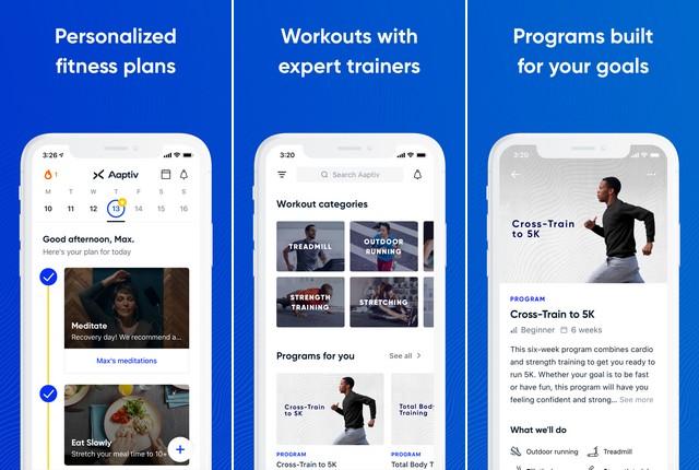 Aaptiv - meilleure application de fitness