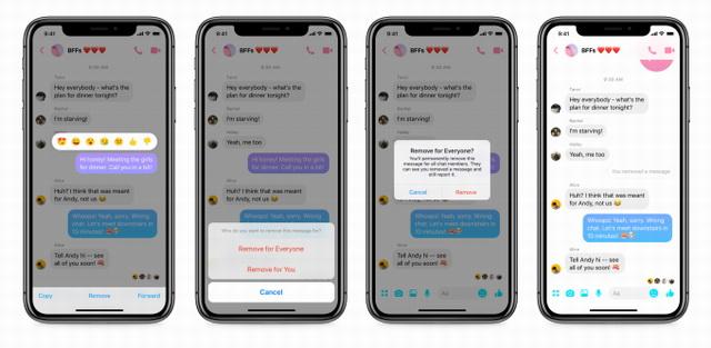 annuler l'envoi de messages sur Facebook Messenger