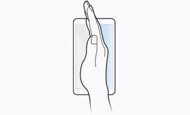 Capture d'écran avec un geste sur le Galaxy S10