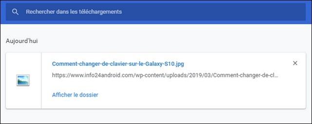 Trouver vos téléchargements récents dans Chrome