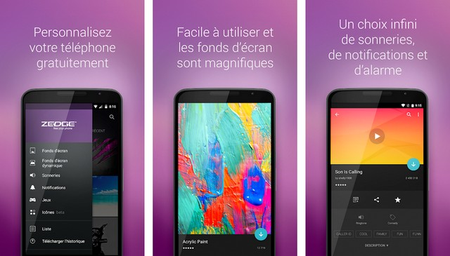 Zedge - meilleur application de sonnerie pour Android