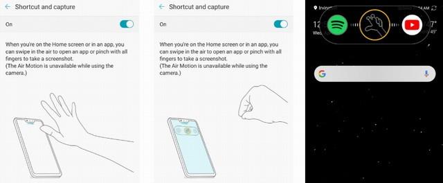 capture d'écran sur le LG G8