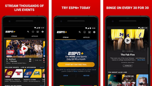 ESPN - applications de football