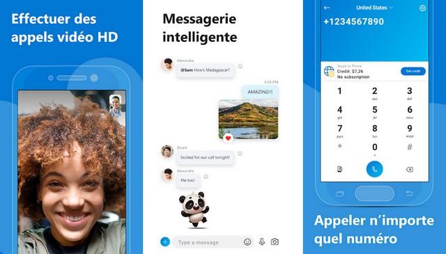 Skype - application de visioconférence sur Android