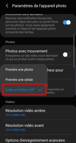 Comment créer des GIF avec l'appareil photo