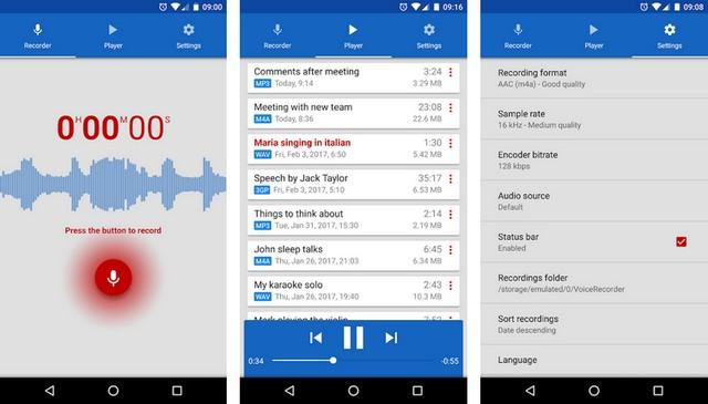 Enregistreur vocal de Splend Apps