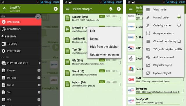 Lazy IPTV - application gratuite pour Android