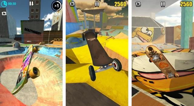 Skateboard réel 3D
