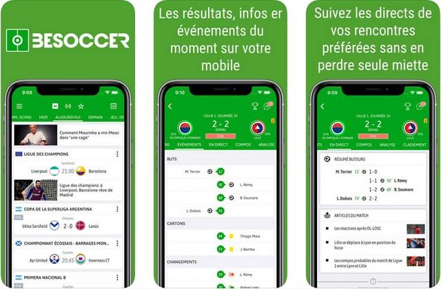 BeSoccer - application de football