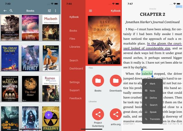 KyBook 2 - application pour lire des ebooks